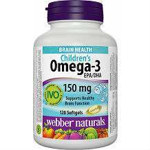 Orange Flavour Children's Omega-3 Webber Naturals