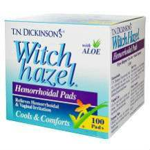T.N Dickinson Witch Hazel hemorrhoid pads review