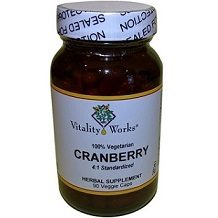 Vitality Works Cranberry supplement for Urinary Tract Infection
