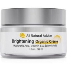 All Natural Advice Brightening Organic Crème for Skin Brightener