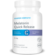 Cooper Complete Quick Release Melatonin for Jet Lag