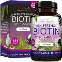 Nutravita High Strength Biotin for Hair Growth