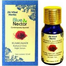 Blue Nectar Kumkumadi Radiance Glow Night Serum for Anti-Aging